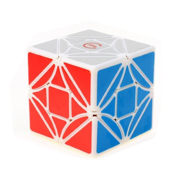 Diversiones Blanco Simple Versión 6.7 cm Fangshi Dreidel LimCube 3X3X3 Cubo Mágico Speed Puzzle de Juguetes Educativos para Niños de Los Niños