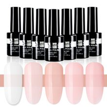 Beautilux 1pc Long Lasting Nail Gel Polish Pink Camouflage Milky White Rubber Base Coat UV Gel Nails Art Design 10ml(China)