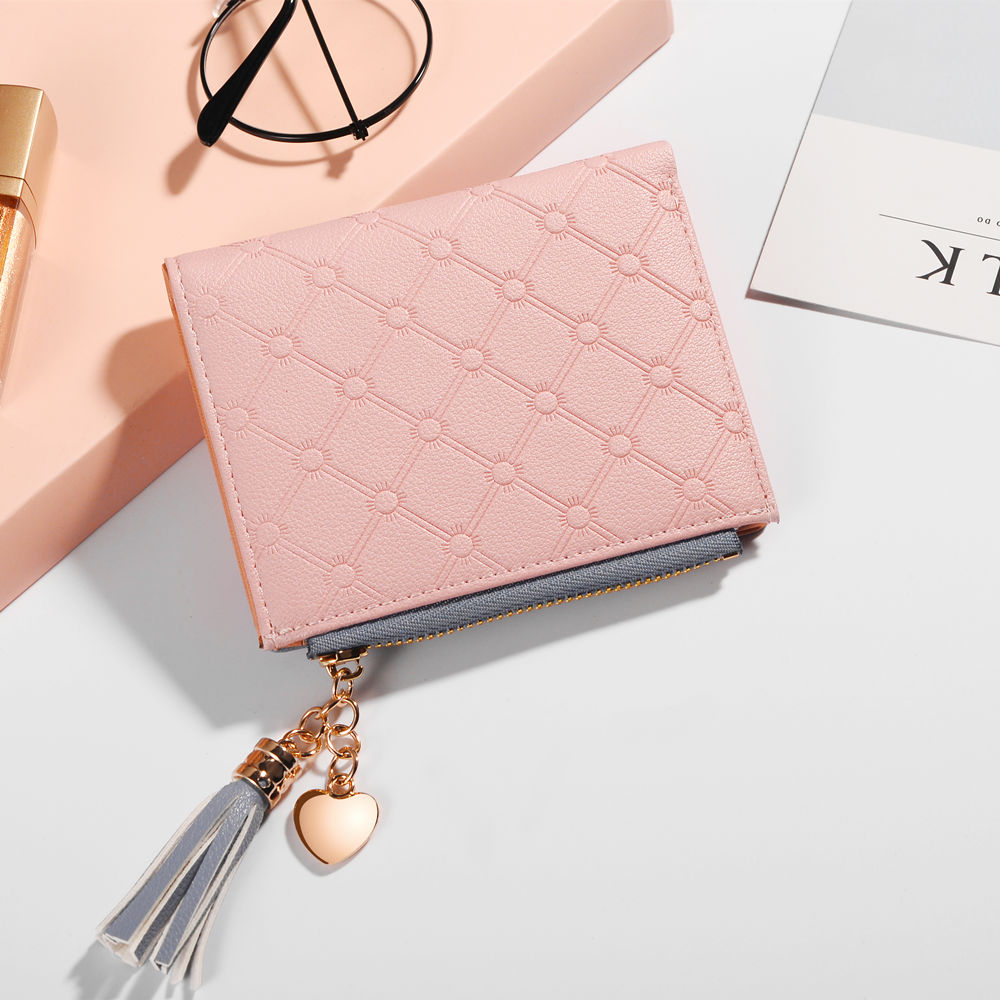 2018 New Women's Cute Fashion Purse Leather Long Zip Wallet Coin Card Holder Soft Leather Phone Card Female Clutch 5