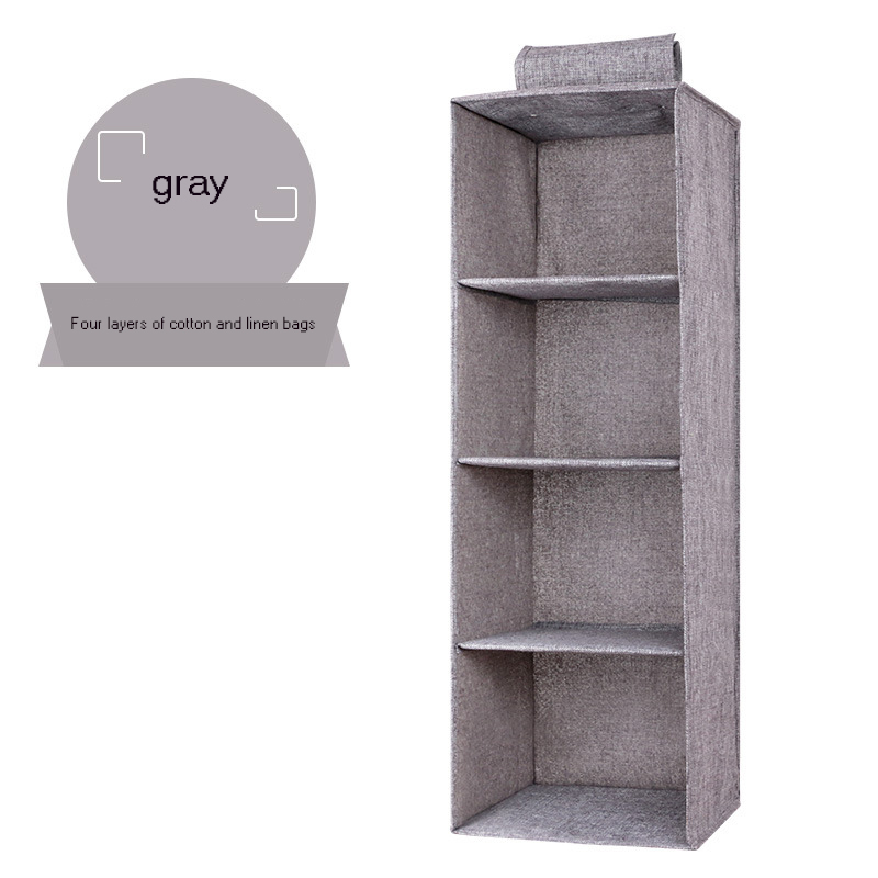 Hanging Clothes Drawer Organizer and Cotton Clothes Storage Box with Compartments 3