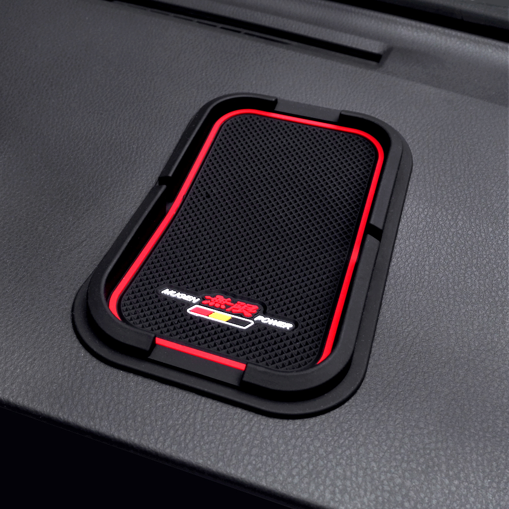 Mugen coche Anti Slip Mat para el teléfono celular Sticky Pad antideslizante Mat para Honda Accord Civic CRV Fit HR-V Vezel Odyssey Insight Elysion