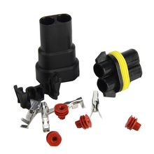2Set 9005 9006 Female Male Wire Connectors For HID Plug Sock