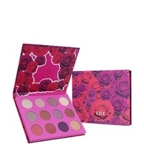 12 Colors Dreamy Rose Eyeshadow Palette Glitter Shimmer Matte Cosmetic Waterproof Pigment Nude Pressed Makeup