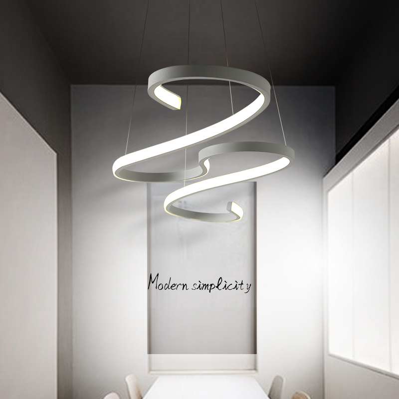 Modern Led Pendant lights Hanging Lighting White/Black Hang Lamp For Dining room Kitchen Office Lustre Lamp Decoration Fixture