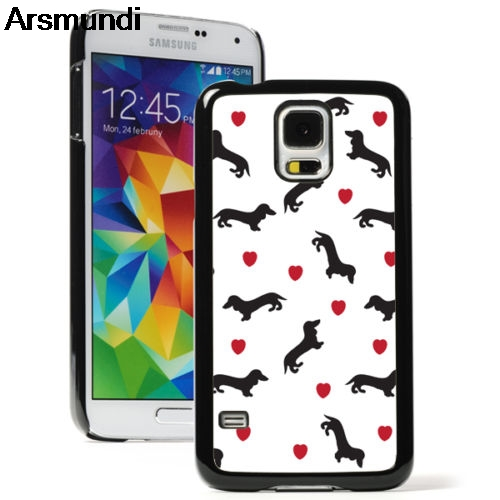 Arsmundi Dachshund Dogs Hearts Phone Cases for iPhone 4S 5C 5S 6S 7 8 Plus X for Samsung S8 9 NOTE Case Soft TPU Rubber Silicone