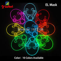10Colors Choice Cute Flashing Chainsaw LED Mask Battery Powered EL Wire Mask Halloween Carnival mask as Gift of Evening Party