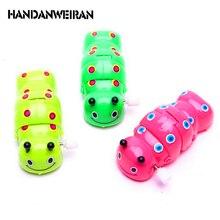 2018 Newborn Cute Cartoon Animal Caterpillar Baby Toy Infant  Chain Clockwork Classic Toys Kid Toys Random Color
