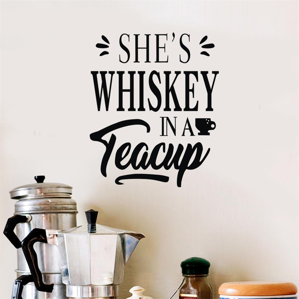 Shes Whiskey Pattern Bar Decoration Wall Sticker Bar Pub Decorative Wall Stickers Size 48*58CM
