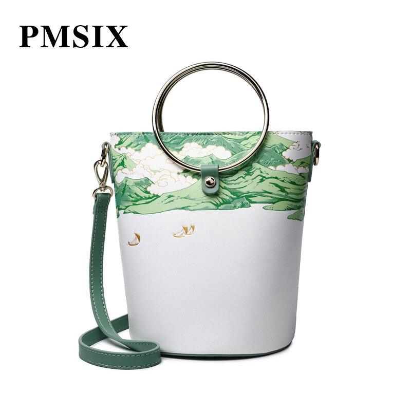 PMSIX Drawstring clutch bag casual Floral Printing multifunction versatile fashion Designer Handbags casual floral