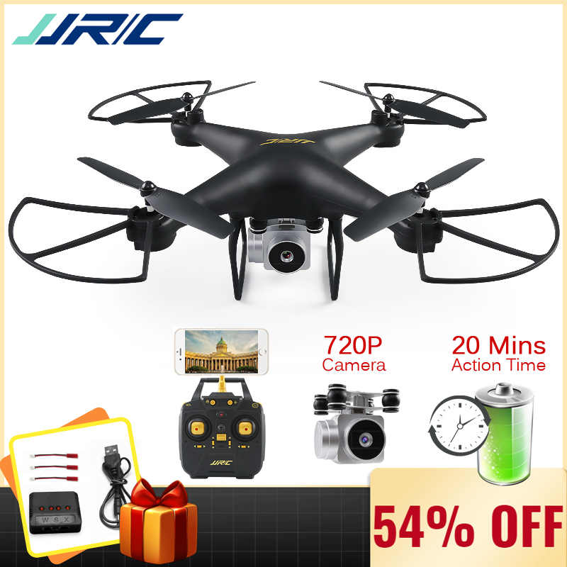 Jjrc H68 Professional Drone With Camera 720p Hd Wifi Fpv Rc Quadrocopter Dron Helicopter For Kids Toys 20 Minutes Playing Time