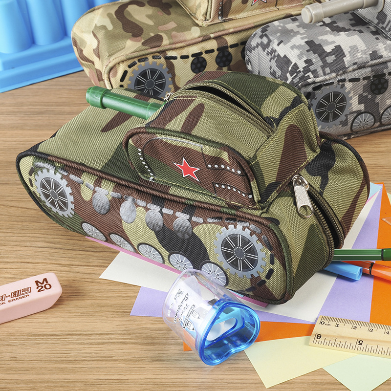 Tank Shaped Pencil Case with Code Lock 1