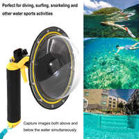 Photography Accessories Durable Diving Trigger Waterproof Housing Lens Cover Kits Underwater Dome Port PC For GoPro Hero 7/6/5