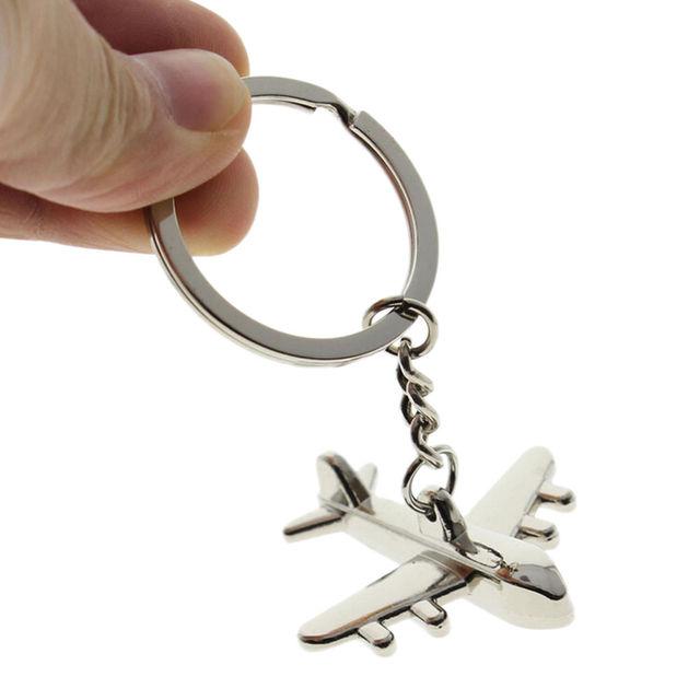 1pcs Creative Civil Aviation Air Plane Metal Alloy Keychain Keyfob Keyring  Gift For Men Women Bag 60a6795d4