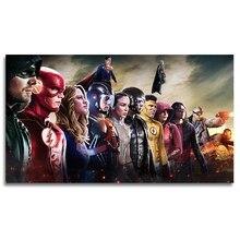Плакат с супергероями, Декоративные плакаты, принты для дома, гостиной, спальни, Настенный декор, шелковое настенное искусство DC