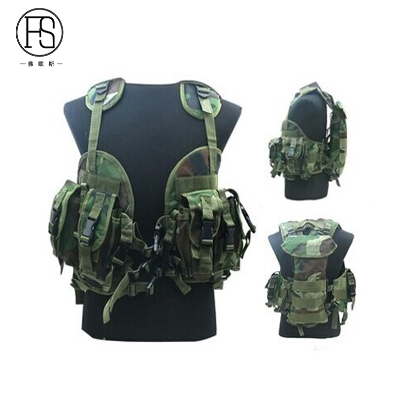 Hot ! Tactical War Game Airsoft Gear Sport Outdoor Tactical Vest Military Camo Shooting Hunting Vests Magazine Holder