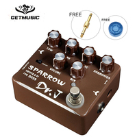 Dr. J Sparrow Driver & DI Effect Pedal for Bass Hand Made Electric Bass Overdrive Pedal efeito True Bypass D 53 + Free Connector