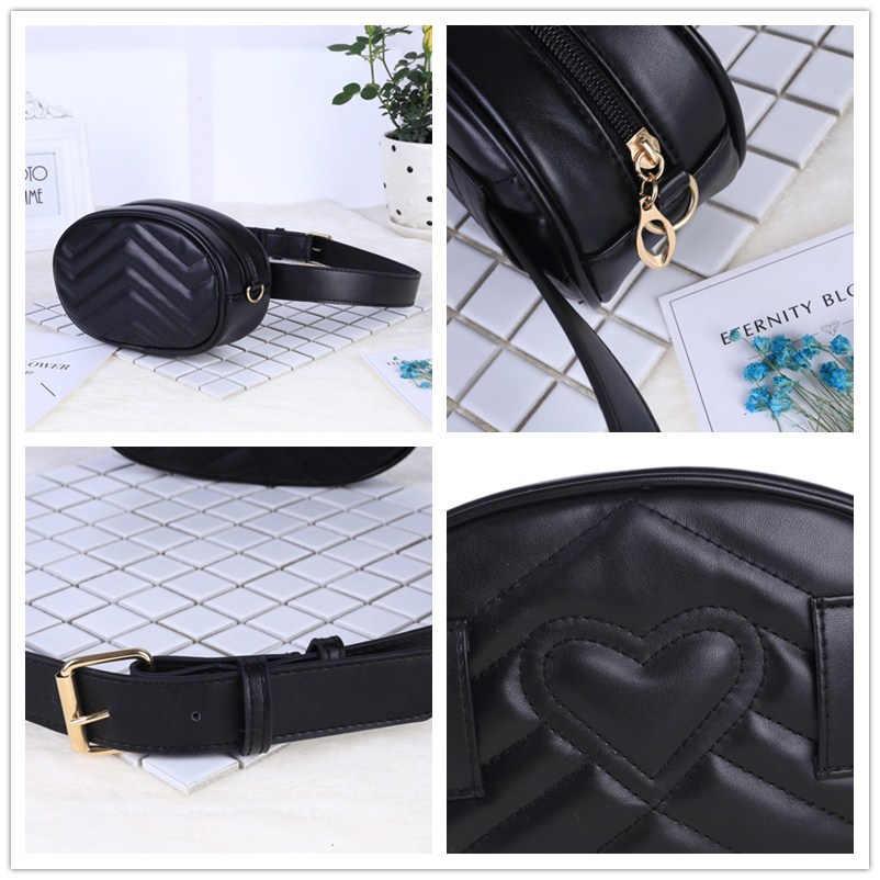 SWDF 2019 nueva moda de alta calidad bolsa de cintura para mujer riñonera bolsa de cinturón de cuero de marca de lujo bolso de mano rojo color negro