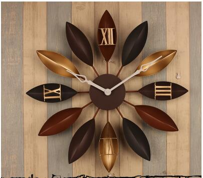 021395 58CM Large Big Metal Wall Clock Large Shabby Chic Rustic Kitchen Times Quatz Home Antique Style,Clocks.3D.Morden Design