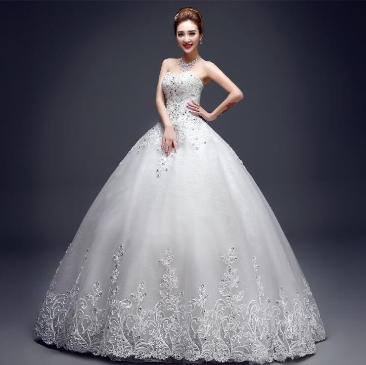 Sweetheart Wedding Dress.Us 57 8 15 Off Sweetheart Wedding Dress 2018 Spring Summer New Fashion Korean Plus Sizes Puffy Bride Married Dress Lace Floor Length In Wedding