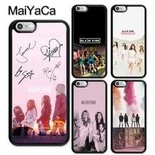 MaiYaCa BLACKPINK Kpop Band JISOO JENNIE LISA ROSE Phone Case For iPhone 6 6S 7 8 Plus X XR XS MAX 5S SE Cover Skin Shell Coque