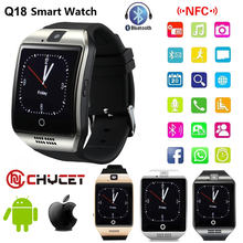 Bluetooth Smart Watch Q18 Smartwatch Support NFC SIM Card GSM camera For Android IOS Smart clock watch Phone PK GT08 DZ09(China)