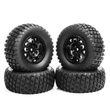 4Pcs RC 1:10 Short Course Truck Tires and Wheel 12mm Hex For TRAXXAS SlASH Car Rim