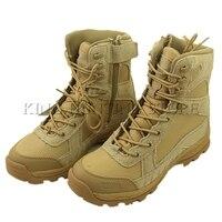 Randonnée en plein air Pêche Chasse Tactique Militaire Armée Bottes Nouveau Type Zipper En Cuir Boot Respirant Chaussures EUR Taille 39-45