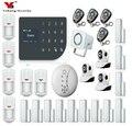 Yobang безопасность беспроводная SIM домашняя RFID защита от взлома ЖК Сенсорная клавиатура WIFI GSM сигнализация система Датчик комплект русский  и...