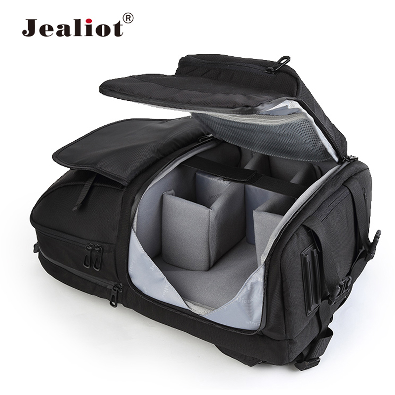 Jealiot Multifunctional Camera Bag Backpack DSLR digital Video Photo Bag case Professional waterproof shockproof for Canon Nikon lowepro protactic 450 aw backpack rain professional slr for two cameras bag shoulder camera bag dslr 15 inch laptop