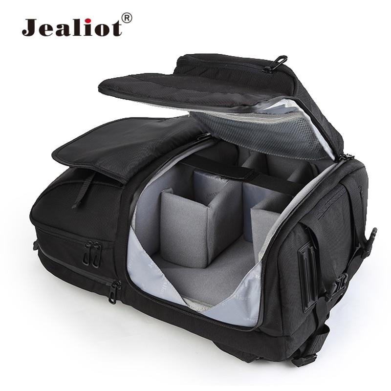 Jealiot Multifunctional Camera Bag Backpack DSLR digital Video Photo Bag case Professional waterproof shockproof for Canon Nikon