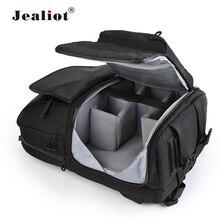 Jealiot multifonctionnel appareil Photo sac à dos Photo sac à bandoulière étui numérique vidéo lentille étanche antichoc pour canon 80d 60d