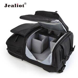 Image 1 - Jealiot wielofunkcyjny plecak na aparat fotograficzny torba ze sznurkiem etui cyfrowy obiektyw wideo wodoodporny, odporny na wstrząsy do canon 80d 60d