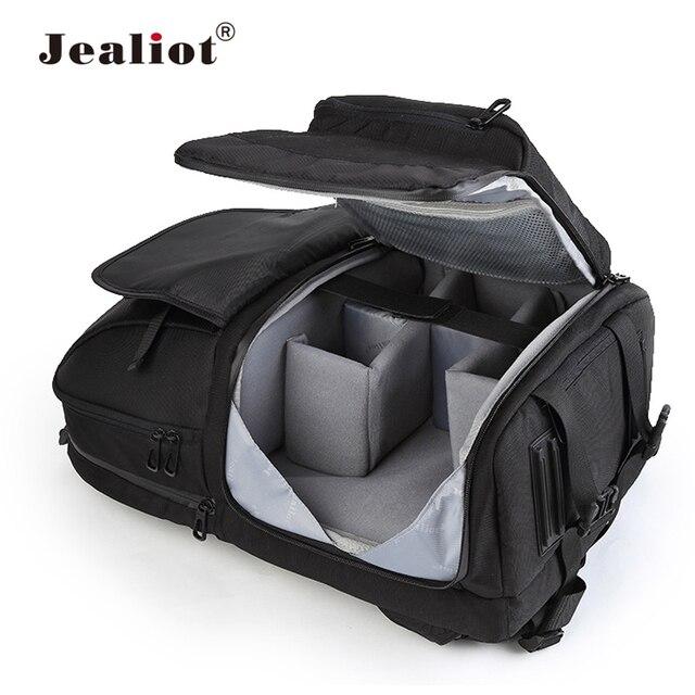 Jealiot wielofunkcyjny plecak na aparat fotograficzny torba ze sznurkiem etui cyfrowy obiektyw wideo wodoodporny, odporny na wstrząsy do canon 80d 60d