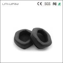 Linhuipad V MODA XLหน่วยความจำฟองน้ำรองหูฟังสำหรับC Rossfade M 100 LP2 LPหูฟังผ่าน(สีดำ) 1คู่/ล็อต