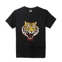 2017 New Anime Yuri On Ice Cosplay T Shirts Yuri Plisetsky Tiger Print Tops Short Sleeve