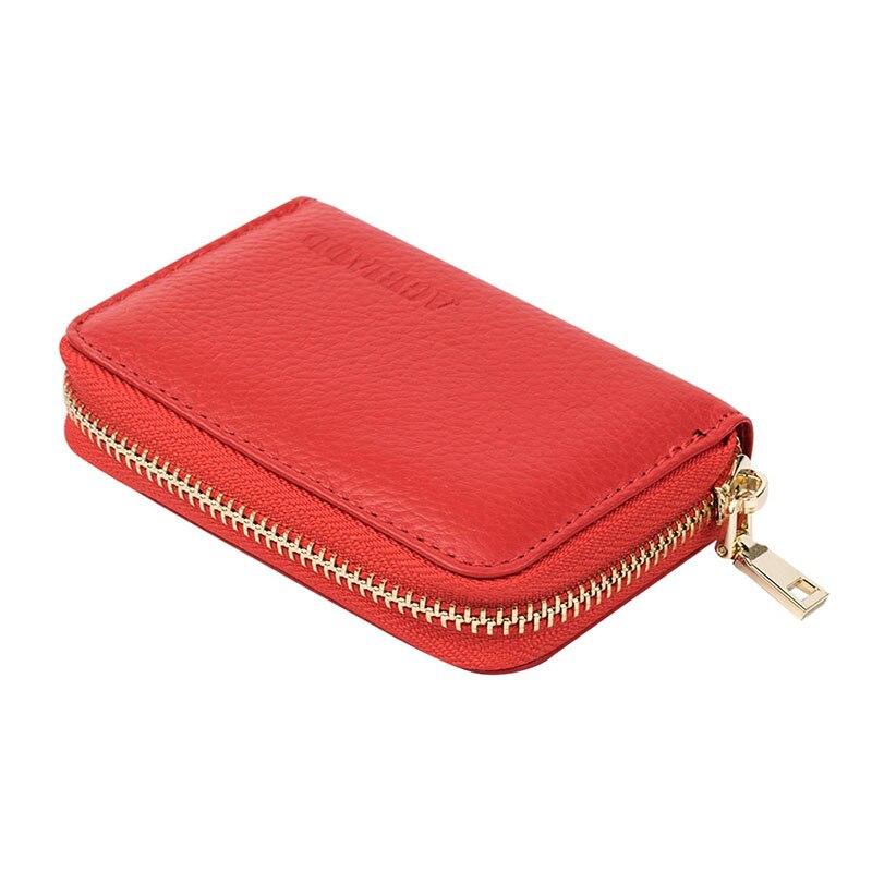 Kvinnor Dragkedja Kreditkortshållare Äkta Läder Mode Korthållare - Plånböcker - Foto 6