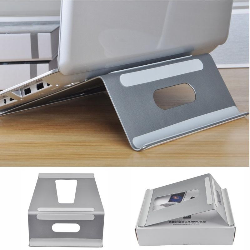 Dvojitý hliníkový stojan na notebook Nastavitelný držák na - Školní a vzdělávací materiály - Fotografie 5