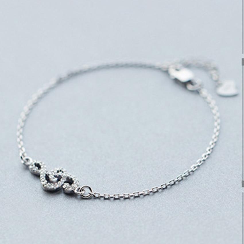 Kinitial 1Pcs 925 Sterling Silver Music Symbol Narukvice za žene CZ - Modni nakit - Foto 4