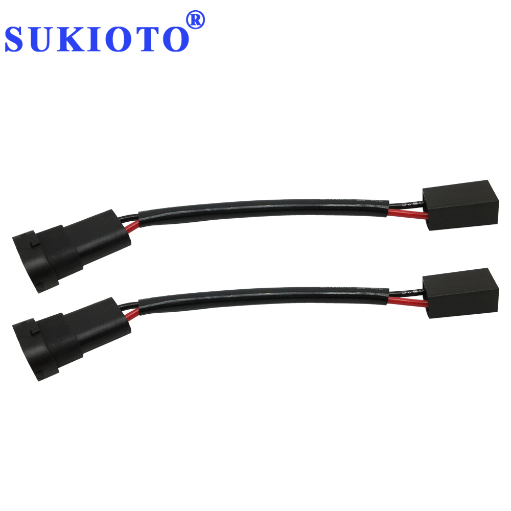 SUKIOTO Connector H11 Socket Male For H7 Wires For Car Automobile Adapter H7 To H11 9005 9006 Car Styling Headlight Accessories