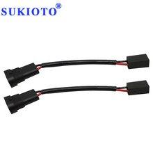Sukioto adaptador de tomada h11 para carro, conector macho para h7 fios de farol automotivo h7 para h11 9005 9006 acessórios