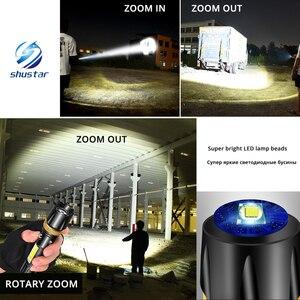 Image 5 - Super heldere Waterdichte LED Zaklamp Met COB side licht Roterende zoom 3 verlichting modi Aangedreven door 18650 batterij voor camping