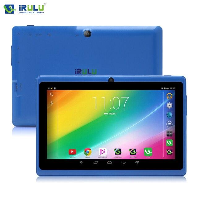 Irulu eXpro 7 '' планшет PC16GB ROM четырехъядерные процессоры две камеры 3 г внешний 2015 новый высокое качество дешевые планшет с Плоский кронштейн