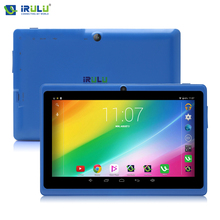 "Irulu android4.4 expro x1 7 ""pc de la tableta 16 gb rom quad core 1024 * 600hd google gms pasado owifi tablet nueva caliente dual cámara"