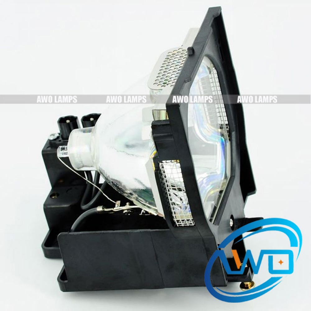 AWO Projector Lamp POA-LMP100 Compatible Replacement with Housing for SANYO PLC-XF46 PLC-XF46E PLC-HD2000;EIKI LC-XT4 replacement projector lamp bulbs with housing poa lmp59 lmp59 for sanyo plc xt10a plc xt11