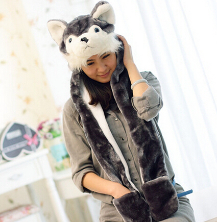 vogue winter cap Animal hat with long ears funny hats all kids clothing accessories panda husky wolf rabbit Clearance discount