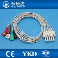 Free Shipping for SC9000XL Drager 5 leads ECG lead wire patient monitor with AHA SNAP