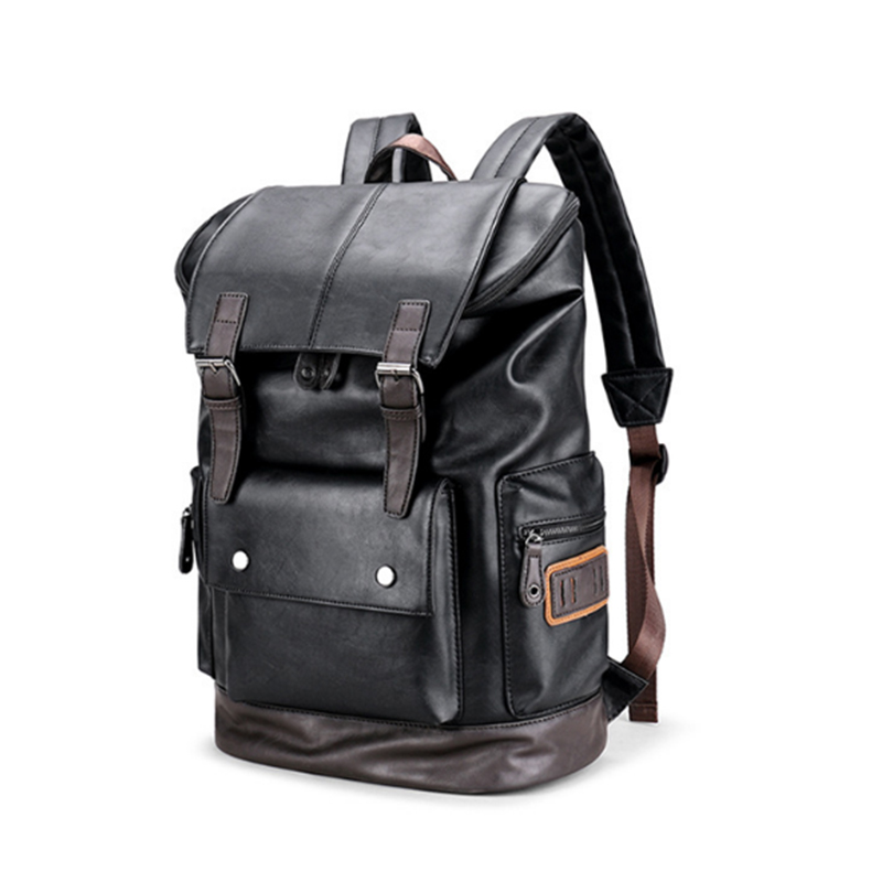 men Backpack High Quality PU Leather Mochila Escolar School Bags For Teenagers male Top-Handle Large Capacity Student Package women backpack high quality pu leather mochila escolar school bags for teenagers girls top handle rivet sequins backpack fashion