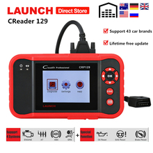 цена на Launch X431 Creader 129 Car Diagnostic Tool ABS SRS Airbag Scanner CRP129 Auto OBD2 Code Reader with Brake Oil SAS Reset pk VIII