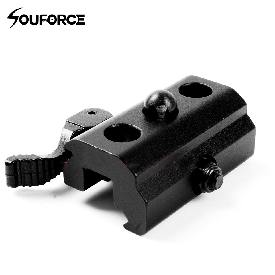 QD Design Quick Detach Release Mount Swivel Adapte Compatible With Any Bipods Connector Suitable For 20mm Picatinny Weaver Rails