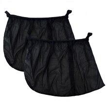 Parasol de malla para ventana de coche, visera de protección UV, antipolvo, 2 unids/lote
